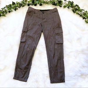 Joes Jeans Dark Green Cargo Ankle Pants